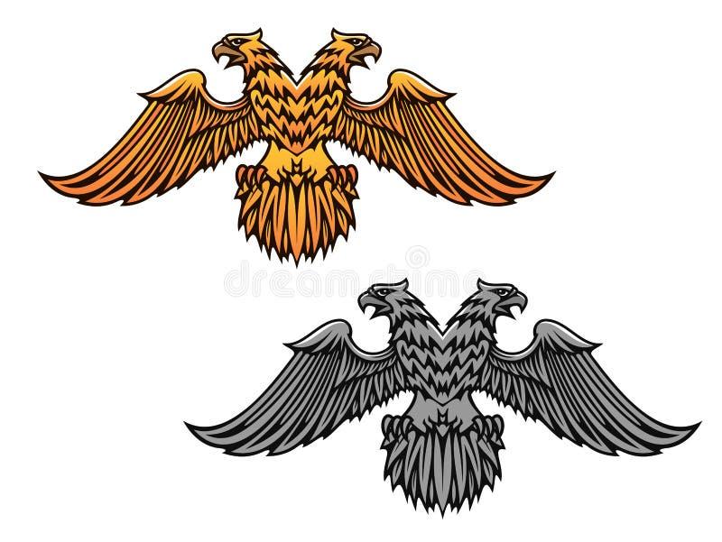 Mascote dobro da águia ilustração do vetor