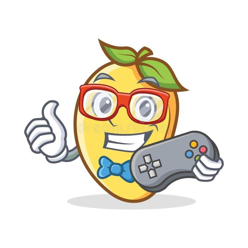 Mascote dos desenhos animados do caráter da manga do Gamer ilustração stock