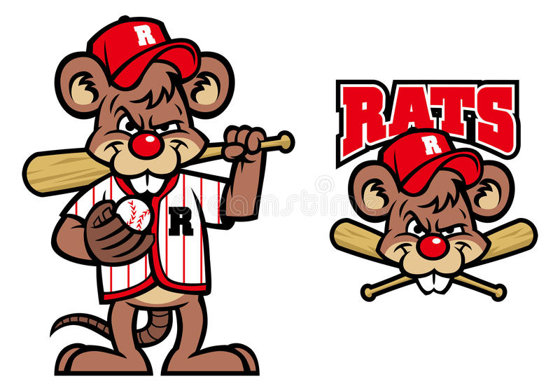 Mascote dos ratos do basebol