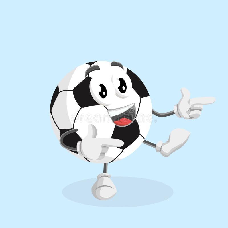 Mascote FootBall com Hi pose ilustração do vetor