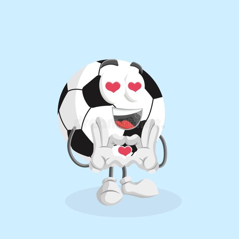 Mascote FootBall em pose de amor ilustração do vetor