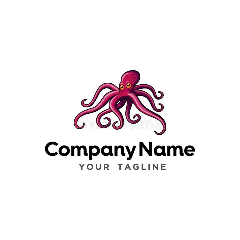 Mascote moderna Logo Template do restaurante do alimento de mar imagem de stock royalty free