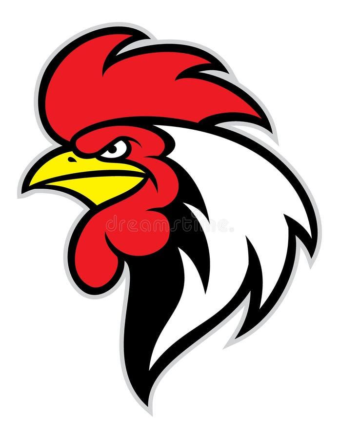 Mascote principal da galinha ilustração do vetor