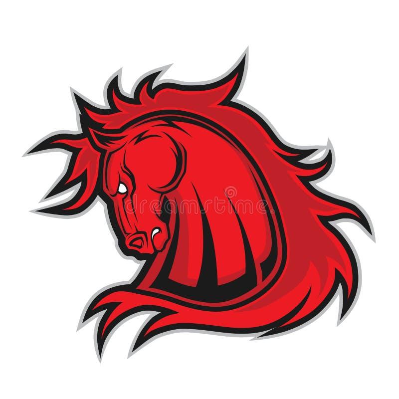 Mascote principal do cavalo ou do mustang ilustração do vetor