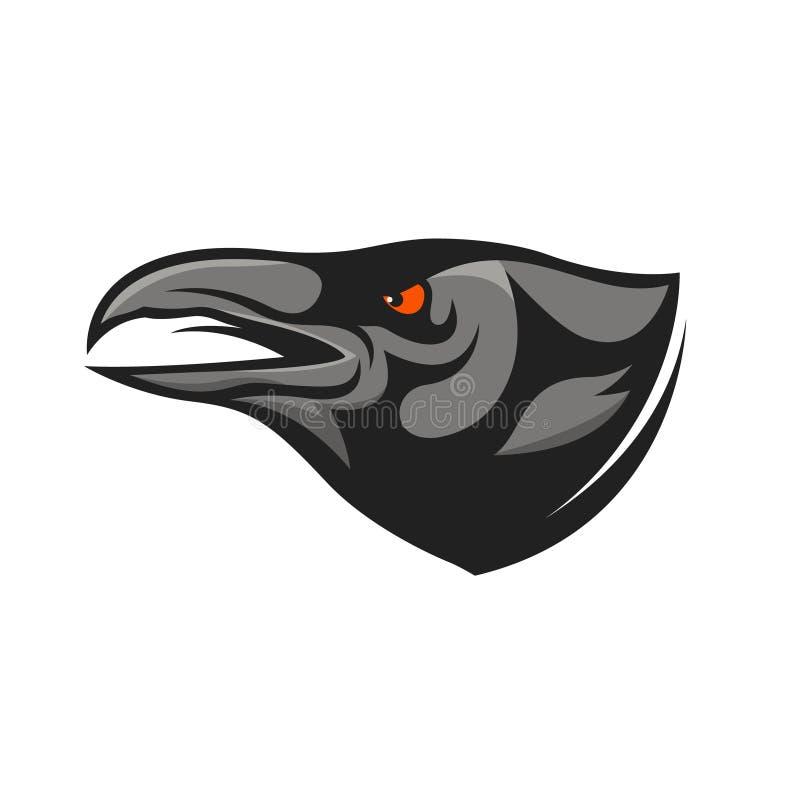 Mascote principal do corvo Ilustração principal do corvo ilustração royalty free