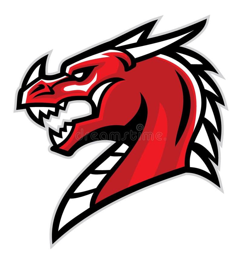 Mascote principal do dragão ilustração do vetor