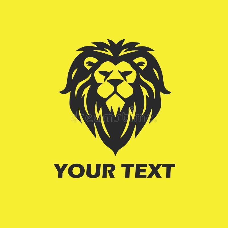 Mascote principal do leão ilustração stock