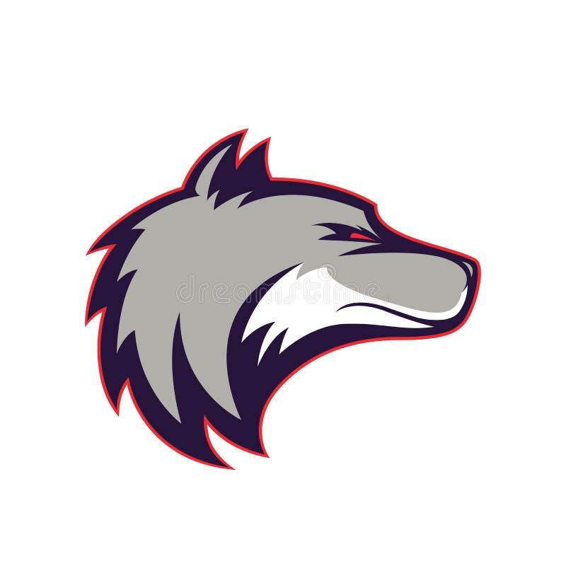 Mascote principal do lobo ilustração royalty free