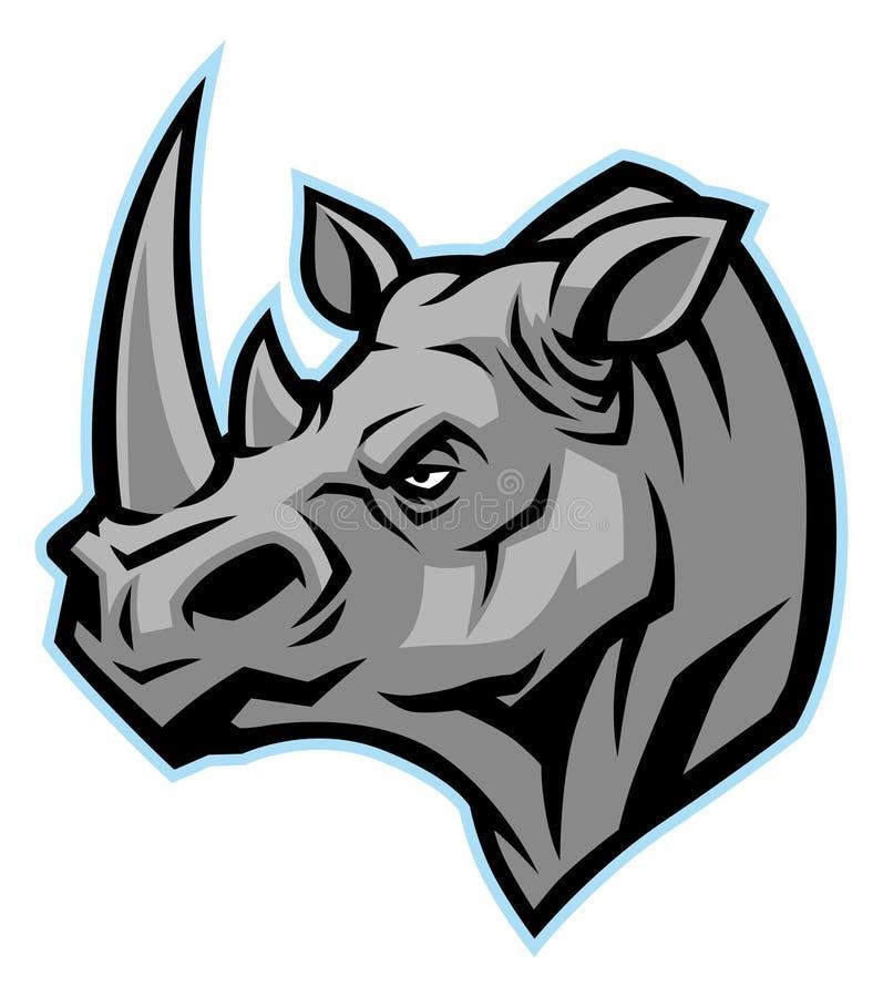 Mascote principal do rinoceronte ilustração do vetor
