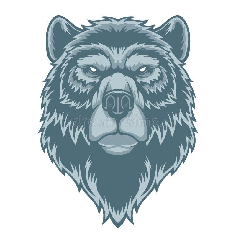 Mascote principal do urso ilustração royalty free