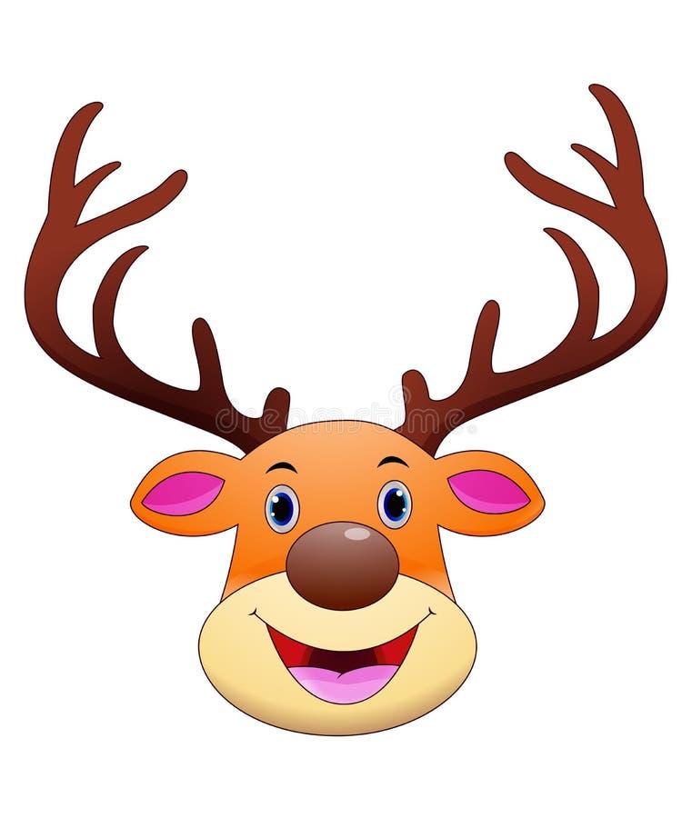 Mascote principal dos desenhos animados dos cervos ilustração stock