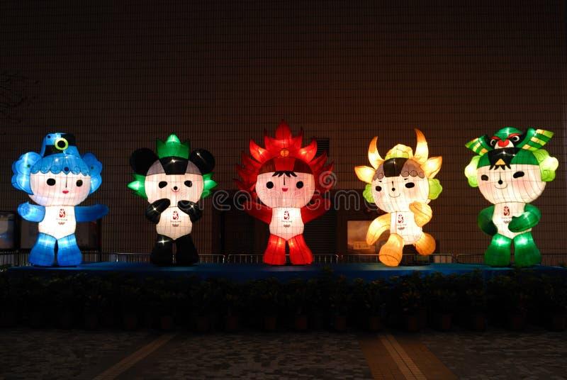 Mascots of Beijing 2008 Olympi royalty free stock photo