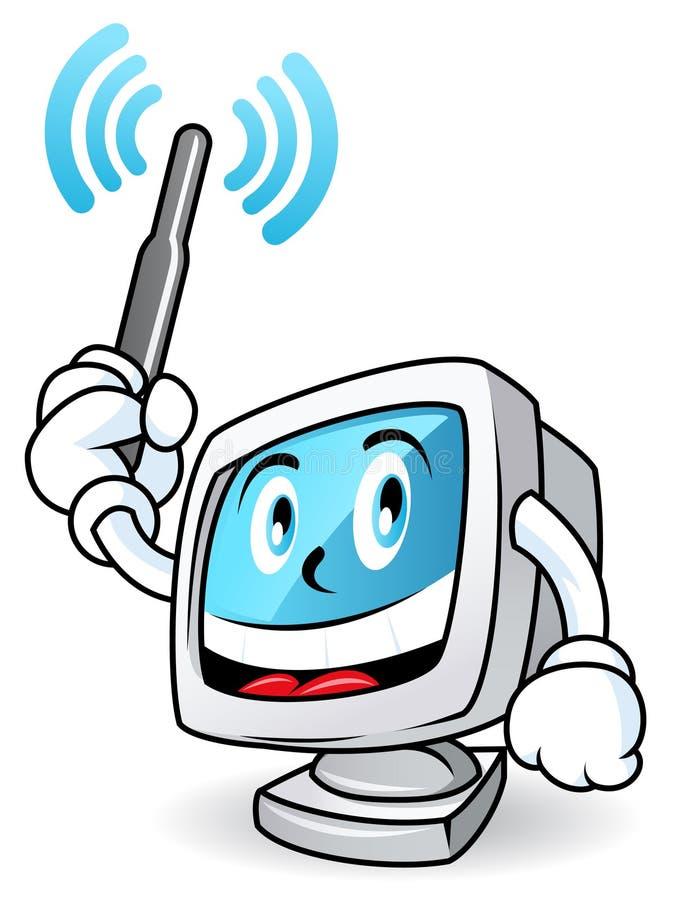Mascotte 1 van de computer vector illustratie