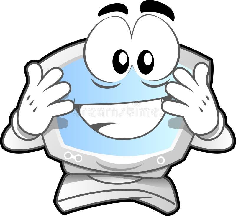Mascotte #3 del calcolatore royalty illustrazione gratis