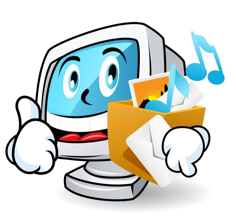 Mascotte 3 van de computer vector illustratie