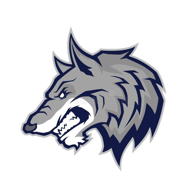 Mascotte capa del lupo royalty illustrazione gratis