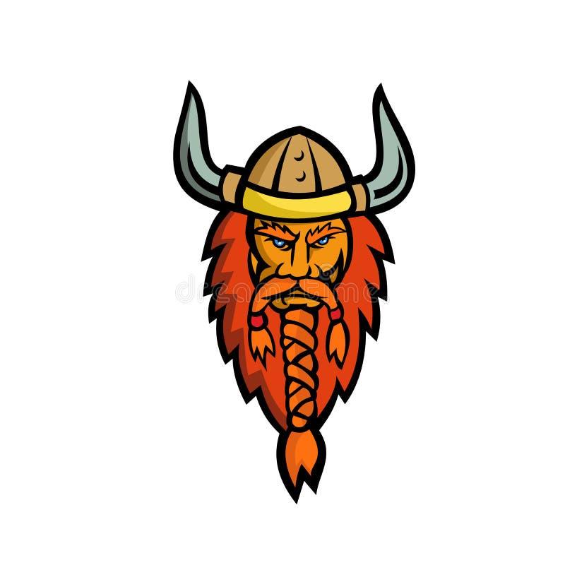 Mascotte capa di norvegese arrabbiato immagine stock