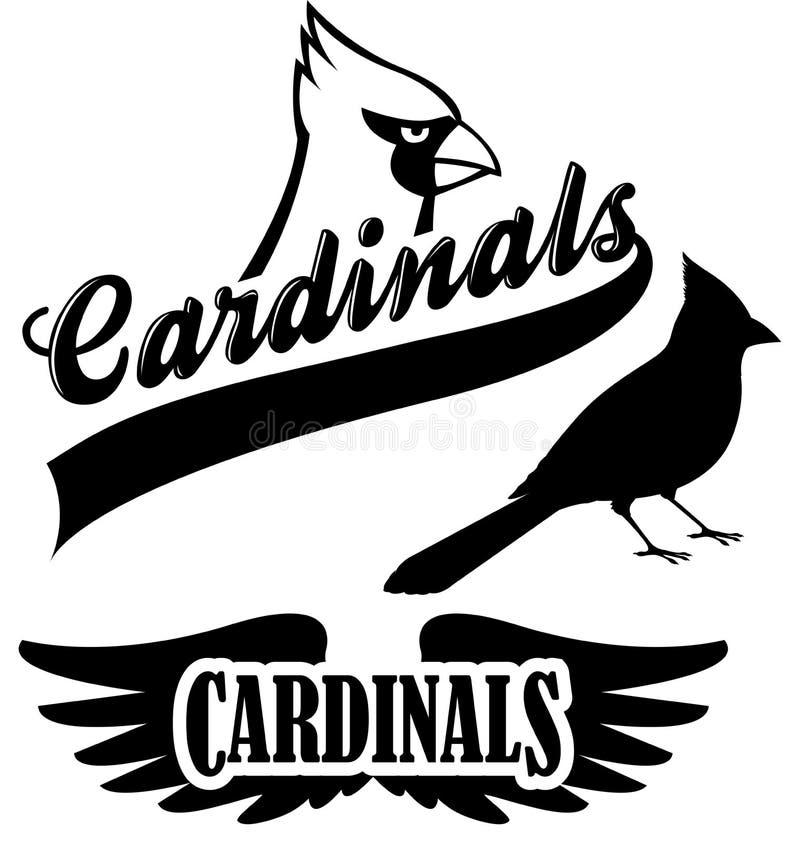 Mascotte cardinale della squadra royalty illustrazione gratis
