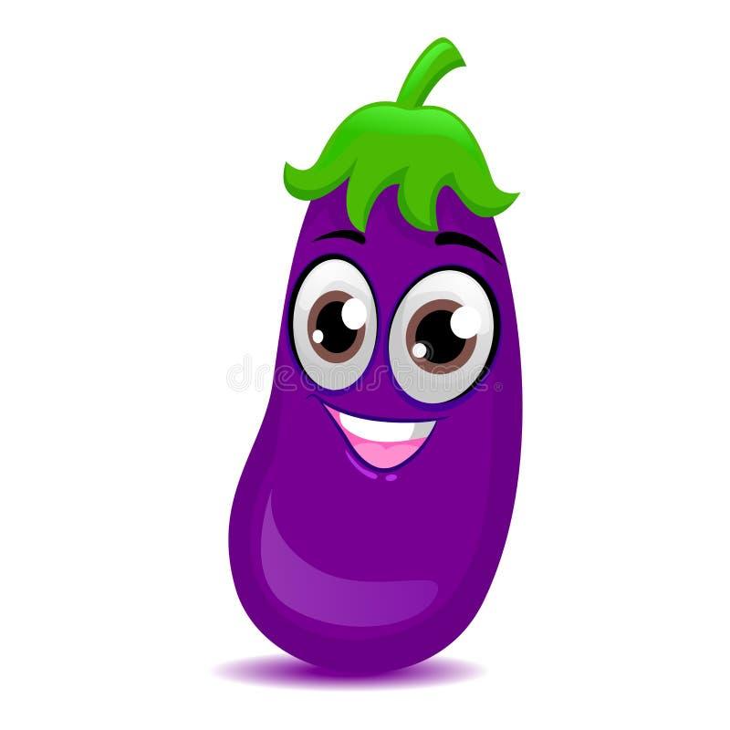 Mascotte d'aubergine illustration stock