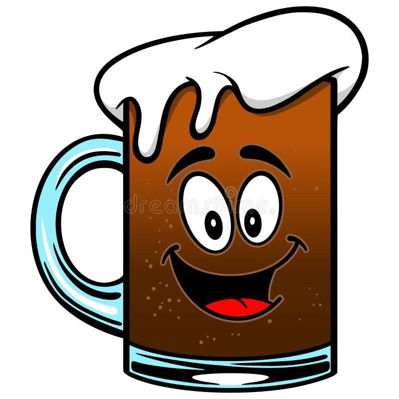 Mascotte de bière de racine illustration libre de droits