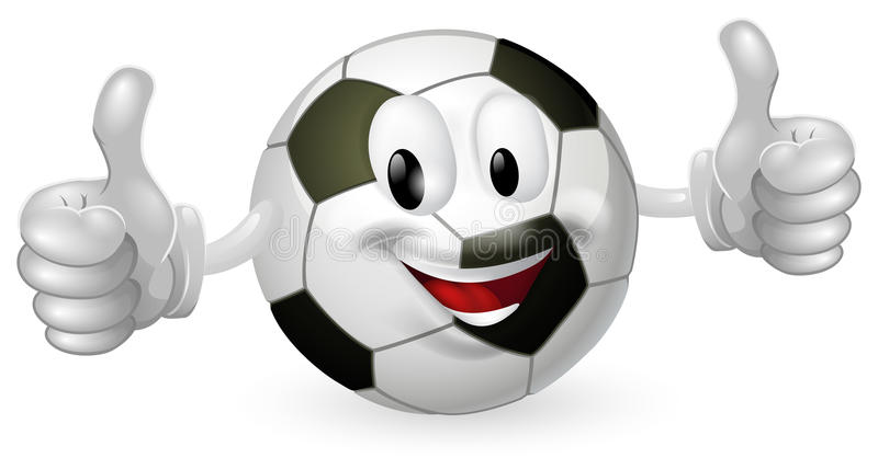 Mascotte de bille du football illustration stock