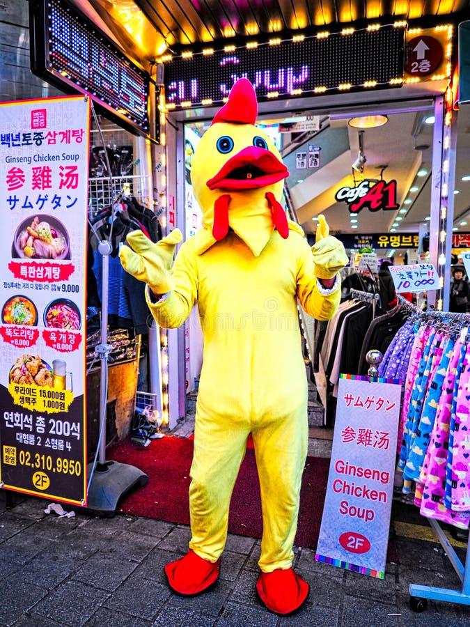 Mascotte de boutique de potage au poulet de ginseng image stock