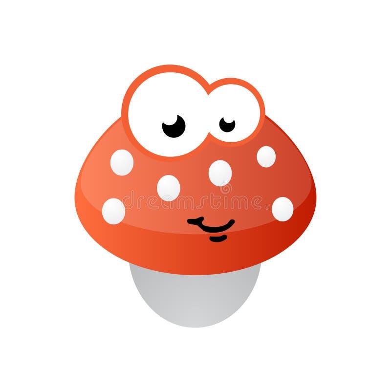 Mascotte de champignon de couche comique illustration stock