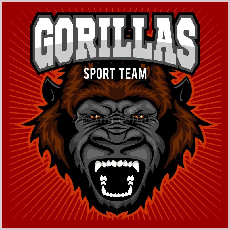 Mascotte de chef de gorille - équipe de sport illustration libre de droits