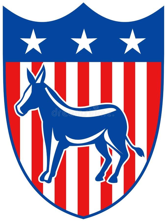 mascotte de démocrate illustration de vecteur