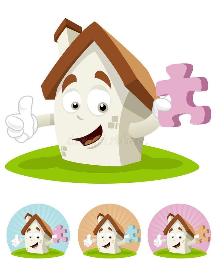 Mascotte de dessin animé de Chambre - puzzle photo libre de droits