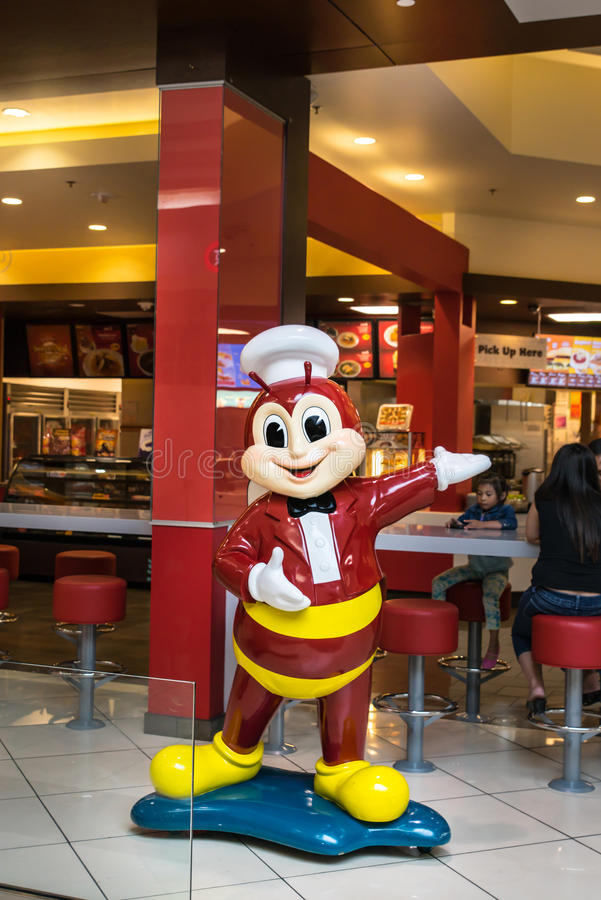 Mascotte de Jollibee image libre de droits