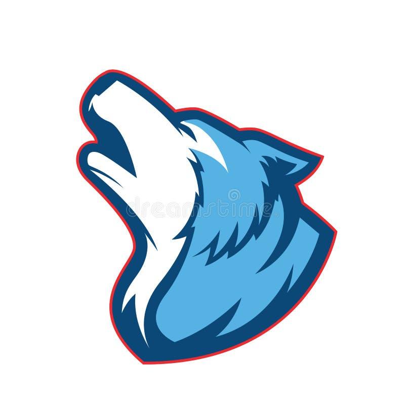 Mascotte de loup d'hurlement illustration libre de droits