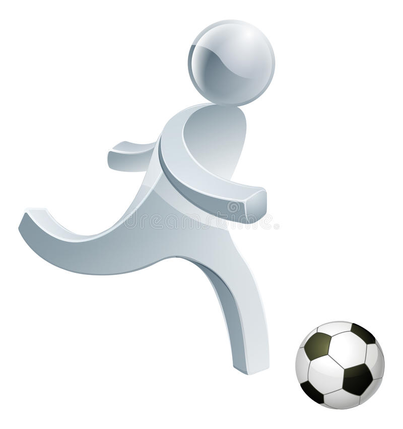 Mascotte de personne du football du football illustration de vecteur