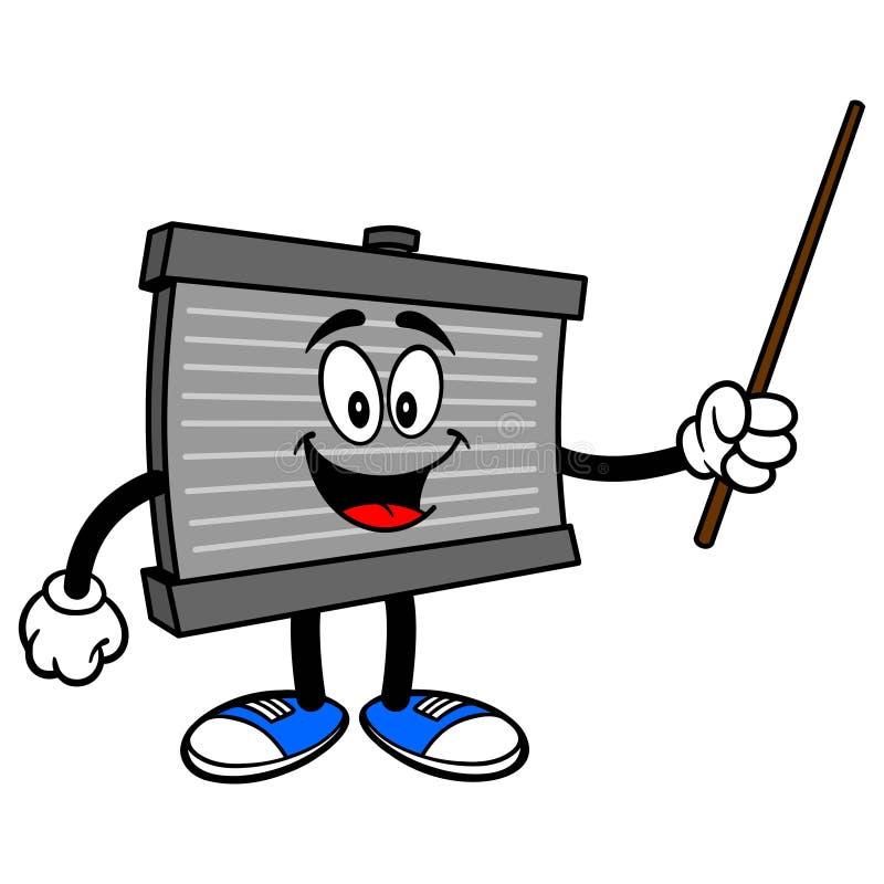 Mascotte de radiateur avec un indicateur illustration libre de droits