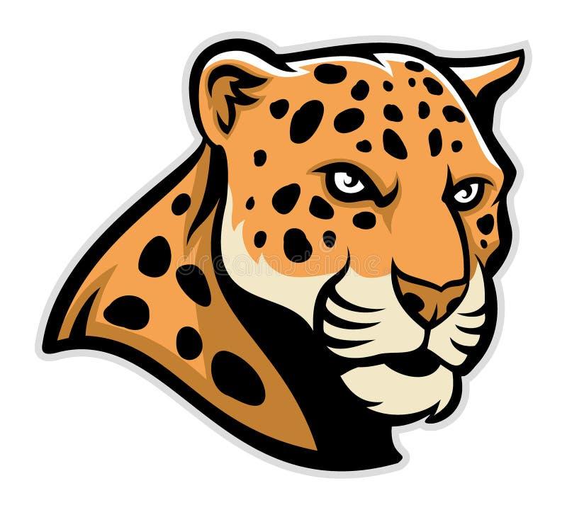Mascotte de tête de Jaguar illustration de vecteur