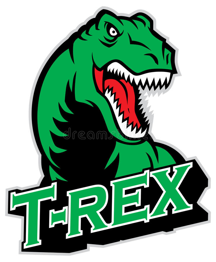 Mascotte de T-rex
