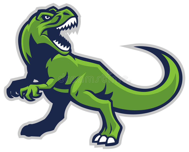 Mascotte de Trex illustration libre de droits
