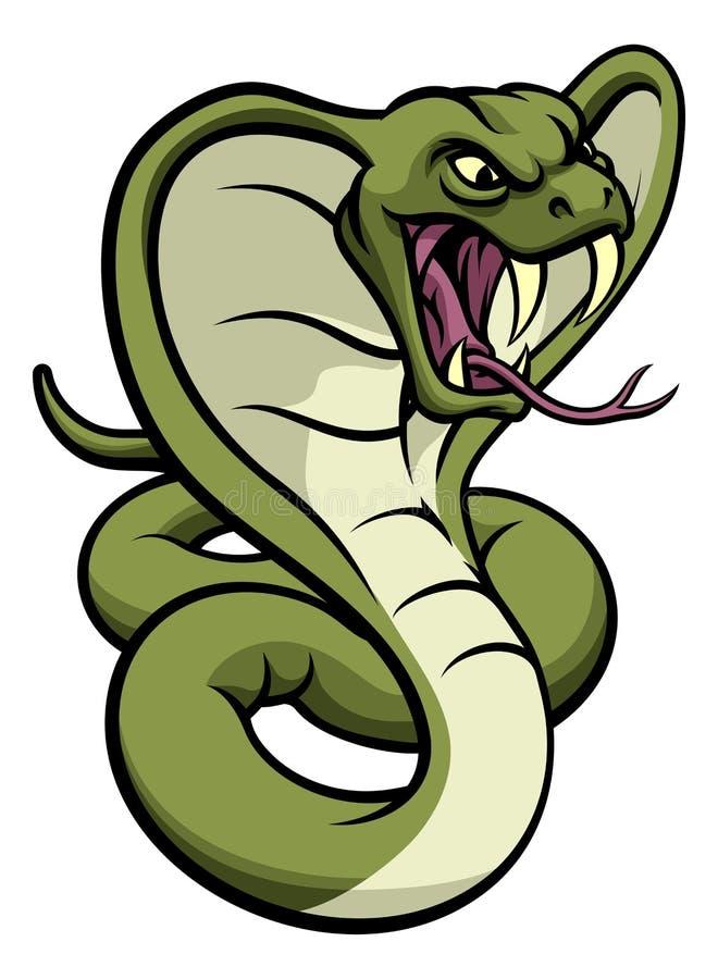 Mascotte de vipère de serpent de cobra illustration stock
