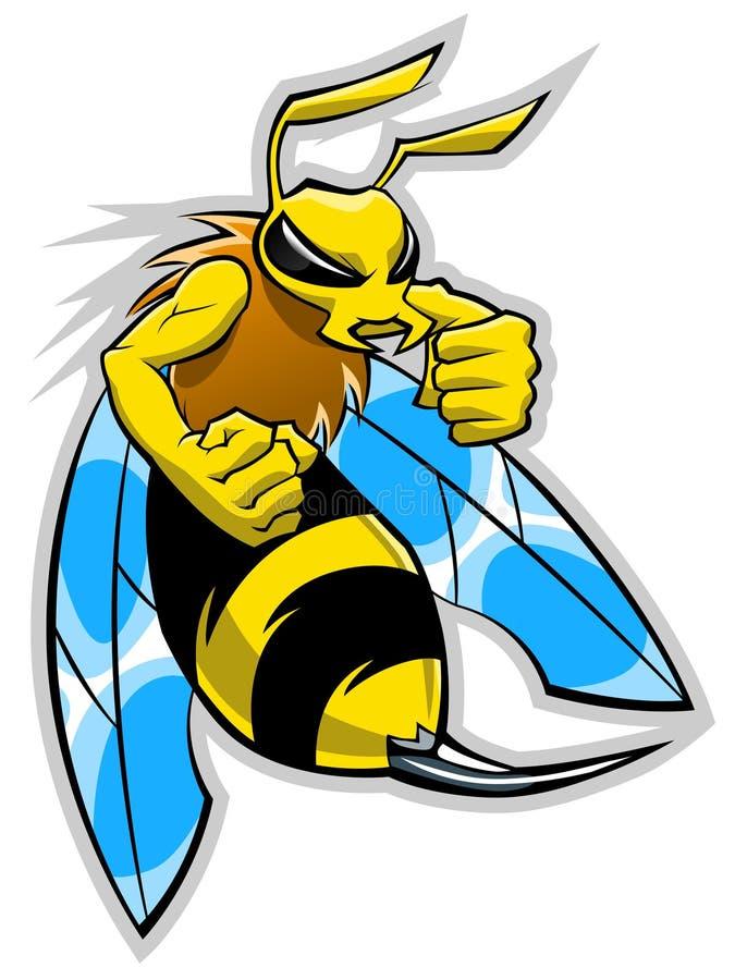 Mascotte del calabrone royalty illustrazione gratis