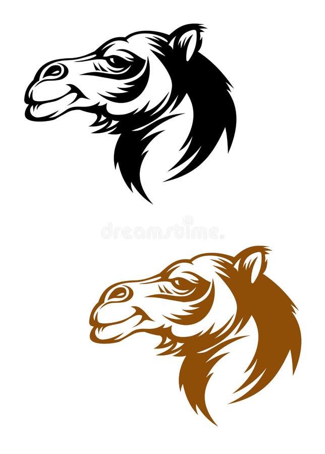 Mascotte del cammello illustrazione di stock