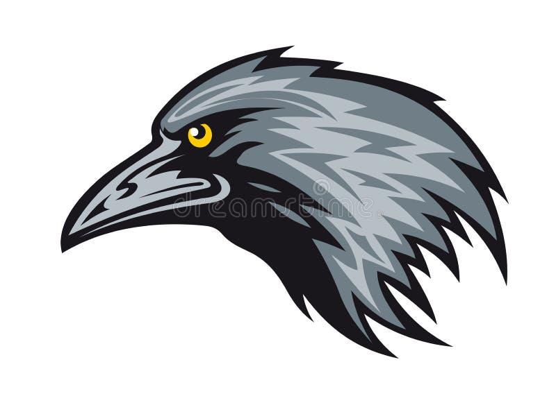 Mascotte del corvo royalty illustrazione gratis