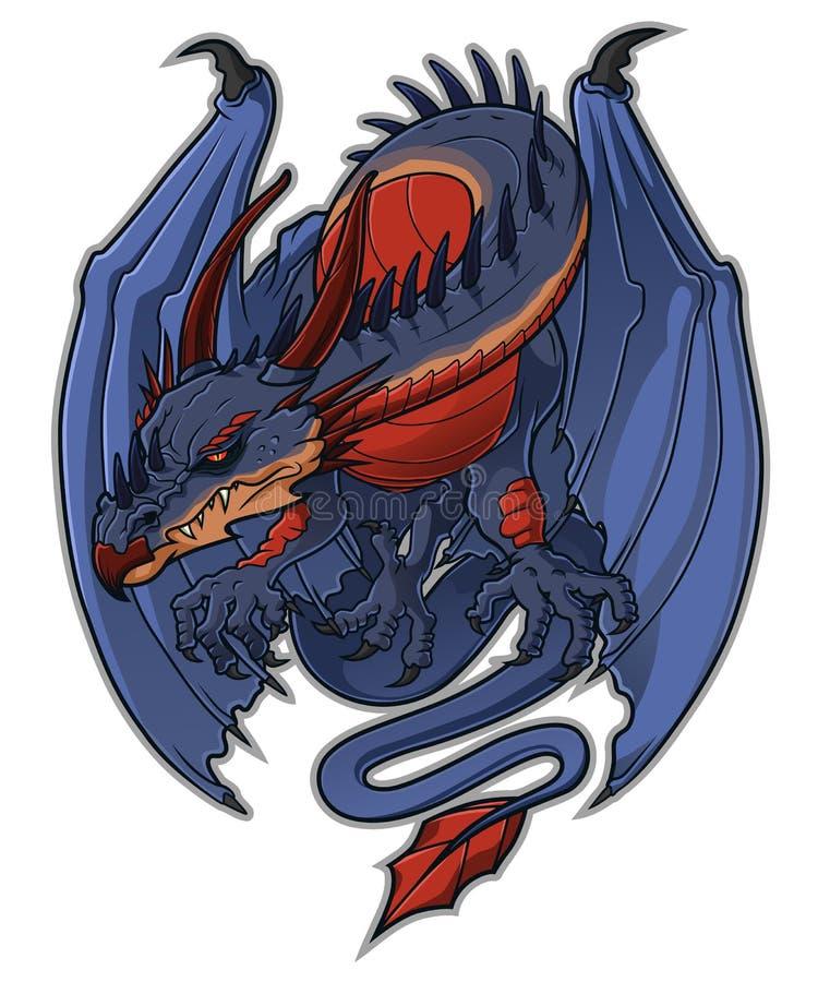 Mascotte del drago illustrazione di stock