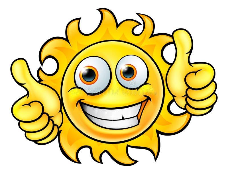 Mascotte del fumetto di Sun illustrazione vettoriale