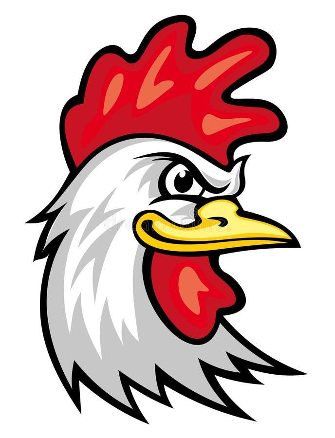 Mascotte del gallo illustrazione vettoriale