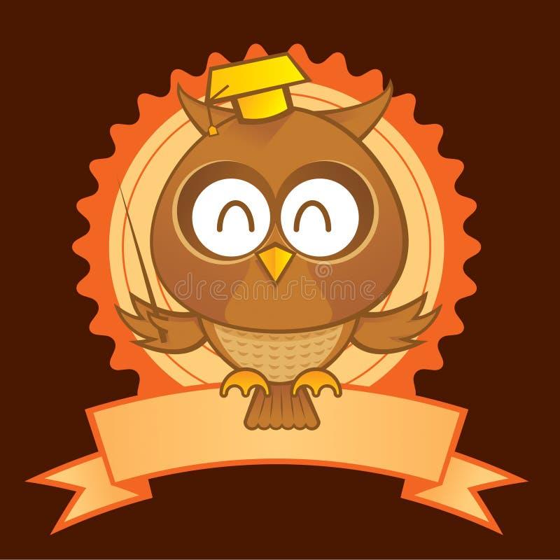 Mascotte del gufo royalty illustrazione gratis