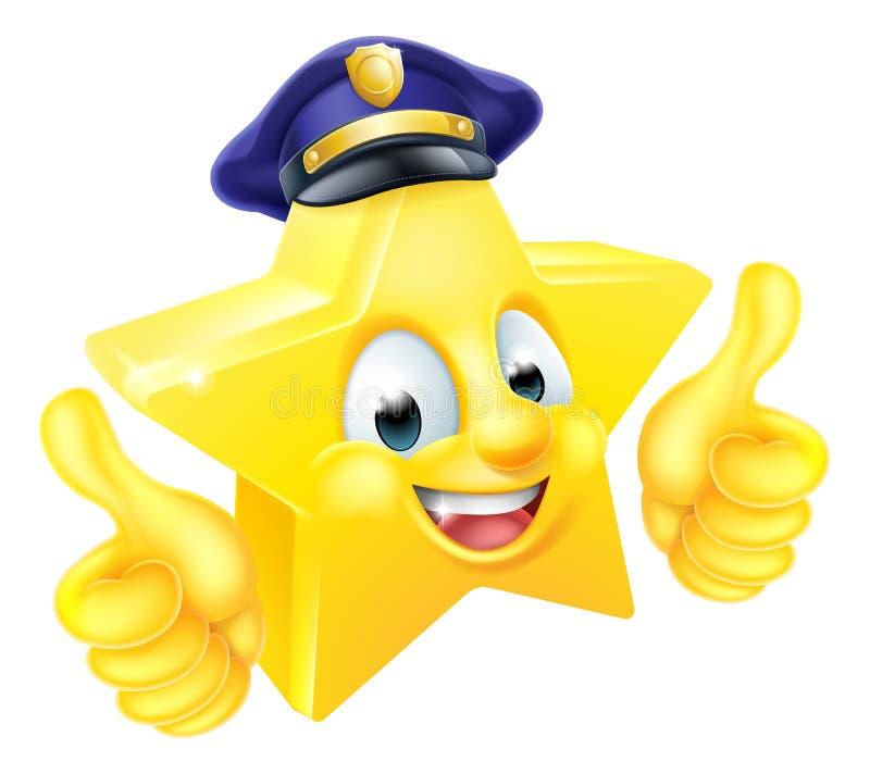 Mascotte del poliziotto della stella royalty illustrazione gratis