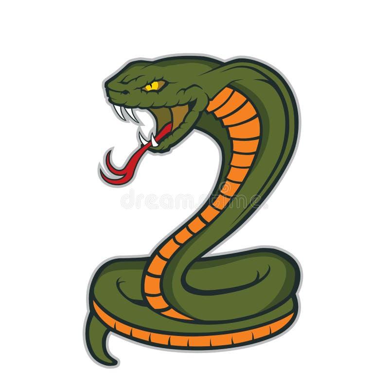 Mascotte del serpente della cobra illustrazione vettoriale