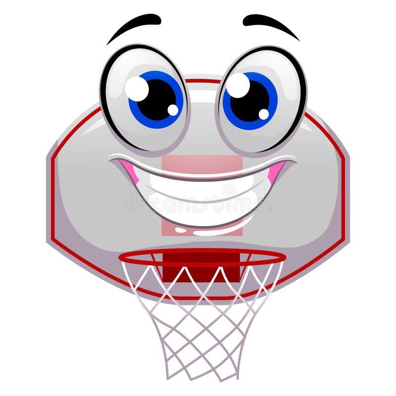Mascotte dell'anello di pallacanestro illustrazione vettoriale