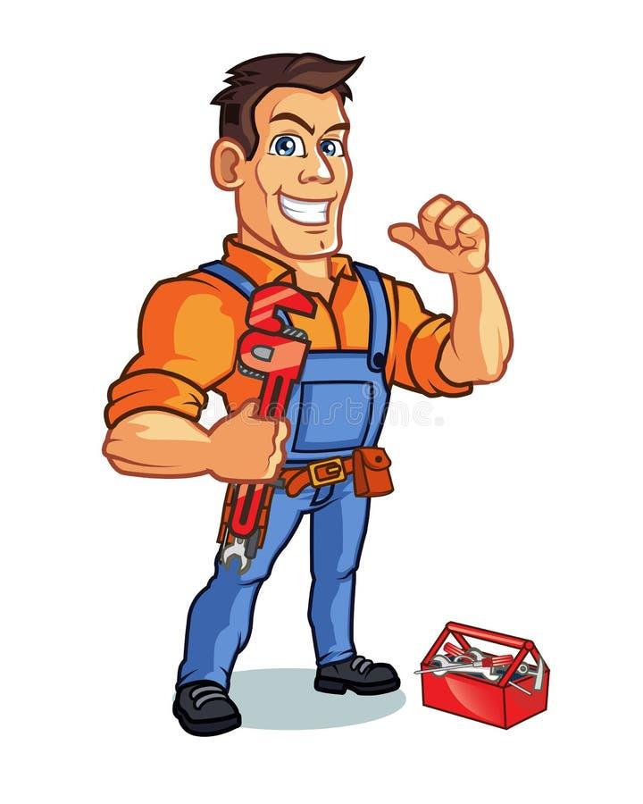 Mascotte dell'idraulico illustrazione vettoriale