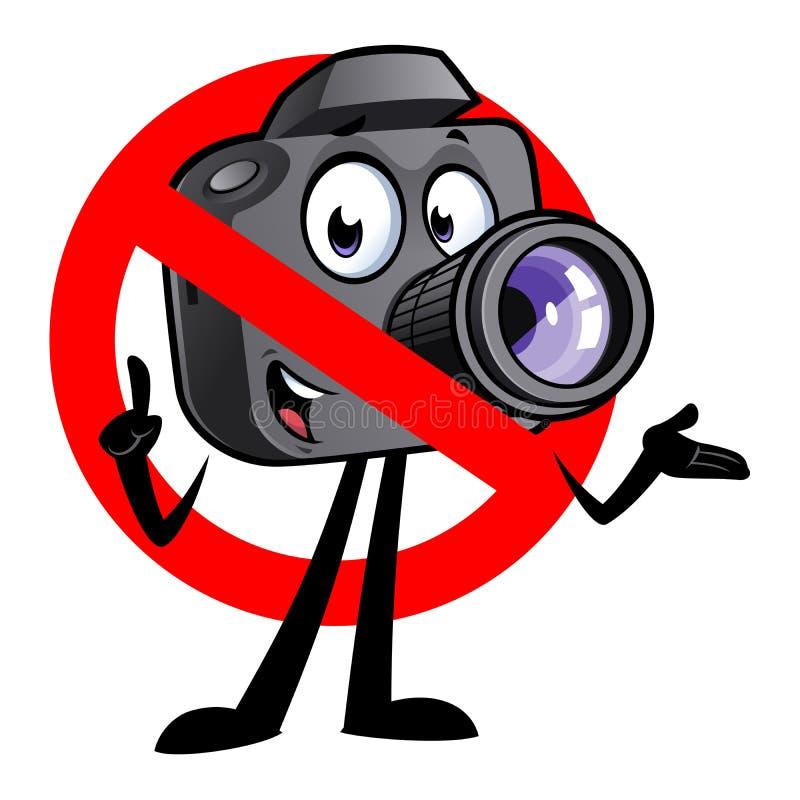 Mascotte della macchina fotografica del fumetto fotografia stock